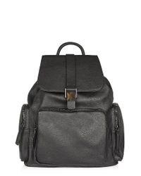 TOPSHOP | Black Bandit Backpack | Lyst