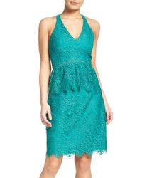Adelyn Rae | Blue Lace Sheath Dress | Lyst