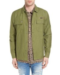 Obey | Green Mission Military Shirt Jacket for Men | Lyst