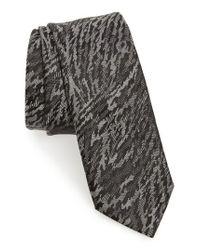 Lanvin | Black Jacquard Silk Skinny Tie for Men | Lyst