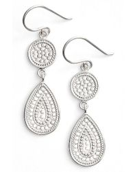 Anna Beck | Metallic Signature Beaded Double Drop Earrings | Lyst