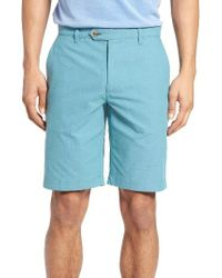 Ted Baker | Blue Evisho Cotton Shorts for Men | Lyst