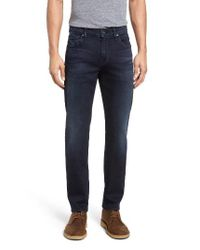 7 For All Mankind | Blue 7 For All Mankind Slimmy Luxe Performance Slim Fit Jeans for Men | Lyst