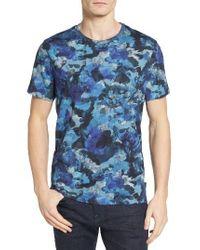 Ted Baker   Blue Ruben Watercolor Print T-shirt for Men   Lyst