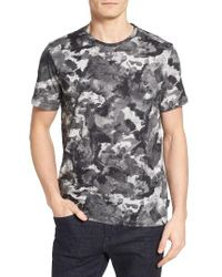 Ted Baker | Gray Ruben Watercolor Print T-shirt for Men | Lyst