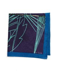 Paul Smith | Blue Cotton Pocket Square | Lyst