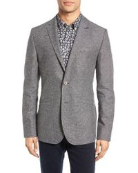 Ted Baker | Gray Hitchin Cotton Blend Blazer for Men | Lyst