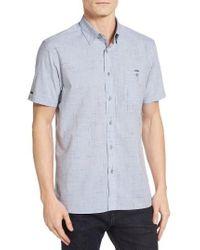 Ted Baker | Blue Samgee Slub Check Sport Shirt for Men | Lyst