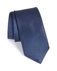 John W. Nordstrom   Blue John W. Nordstrom Micro Grid Silk Tie for Men   Lyst