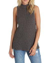 Billabong | Gray Cross My Heart Sleeveless Sweater | Lyst