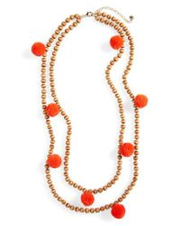 BaubleBar | Multicolor Grenada Double Strand Pompom Necklace | Lyst