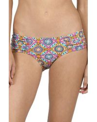 Volcom | Blue Current State Cheeky Bikini Bottoms | Lyst