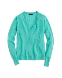 J.Crew   Blue V-neck Italian Featherweight Cashmere Sweater for Men   Lyst