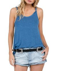 Volcom | Blue Twisted Time Tank | Lyst
