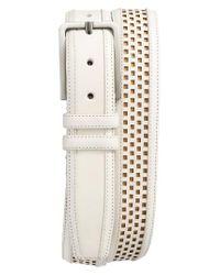 Mezlan   Natural Palma Leather Belt   Lyst