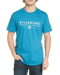 Billabong   Blue Unity Logo Graphic T-shirt for Men   Lyst