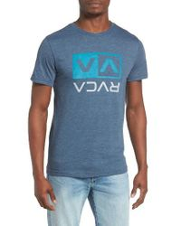 RVCA | Blue Two Color Flipped Box T-shirt for Men | Lyst