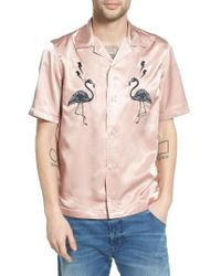 DIESEL   Pink Diesel Westy Embroidered Bowling Shirt for Men   Lyst