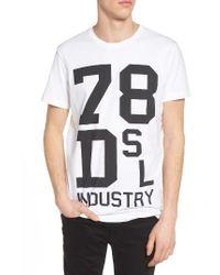 DIESEL | White Diesel T-diego Graphic T-shirt for Men | Lyst