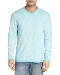 Tommy Bahama Blue Seaglass Reversible T-shirt for men