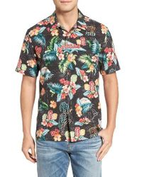 Tommy Bahama | Black Poker Days Silk Camp Shirt for Men | Lyst