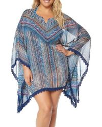 Jessica Simpson Blue Cover-up Tunic