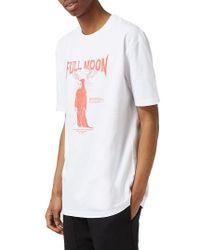 Topman | White Full Moon Graphic T-shirt for Men | Lyst