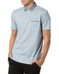 Good Man Brand | Gray Soft Jersey Polo for Men | Lyst