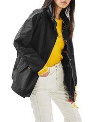 TOPSHOP | Black Retro Sports Jacket | Lyst