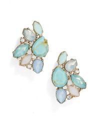 Marchesa | Blue Paradise Cluster Button Stud Earrings | Lyst