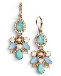 Marchesa - Multicolor Paradise Cluster Drop Earrings - Lyst
