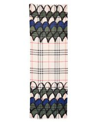 Burberry - Green Scallop Graphic Scarf - Lyst