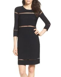 French Connection | Black Danni Ladder Knit Dress | Lyst