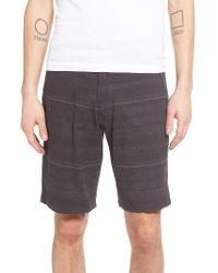 Ezekiel | Black Mixed Stripe Shorts for Men | Lyst