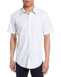 James Campbell | Blue Short Sleeve Sport Shirt for Men | Lyst
