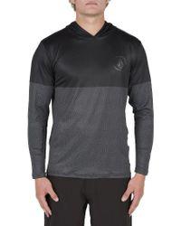 Volcom   Gray Hooded Surf Shirt for Men   Lyst