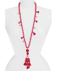 Kate Spade | Pink Tassel Pendant Necklace | Lyst