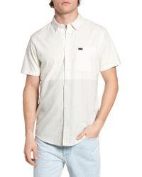 RVCA | White Big Block Woven Shirt for Men | Lyst