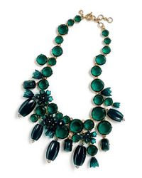 J.Crew | Green Poppy Drop Necklace | Lyst
