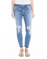 Level 99 | Blue Amber Slouchy Release Hem Skinny Jeans | Lyst