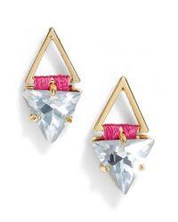 Rebecca Minkoff   Multicolor Geo Stud Earrings   Lyst