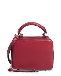 Rebecca Minkoff - Black Box Leather Crossbody Bag - Lyst