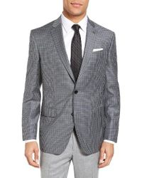 Ted Baker | Gray Jed Trim Fit Check Wool Sport Coat for Men | Lyst