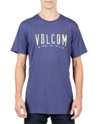 Volcom | Blue T-mark Logo T-shirt for Men | Lyst