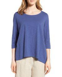 Eileen Fisher - Blue Organic Cotton Top - Lyst
