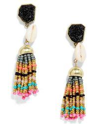 BaubleBar   Multicolor Conch Tassel Drop Earrings   Lyst