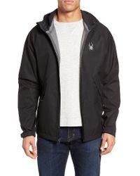 Spyder | Black Pryme Water Resistant Jacket for Men | Lyst
