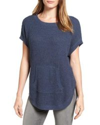 Two By Vince Camuto | Blue Waffle Stitch Sweater | Lyst