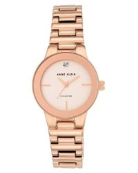 Anne Klein | Metallic Diamond Dial Bracelet Watch | Lyst