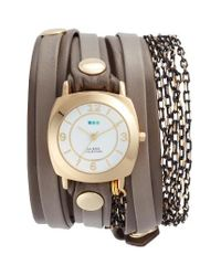 La Mer Collections | Multicolor Odyssey Leather & Chain Wrap Strap Watch | Lyst